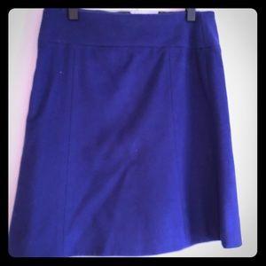 J Crew Felt A Line Knee Length Skirt Purple